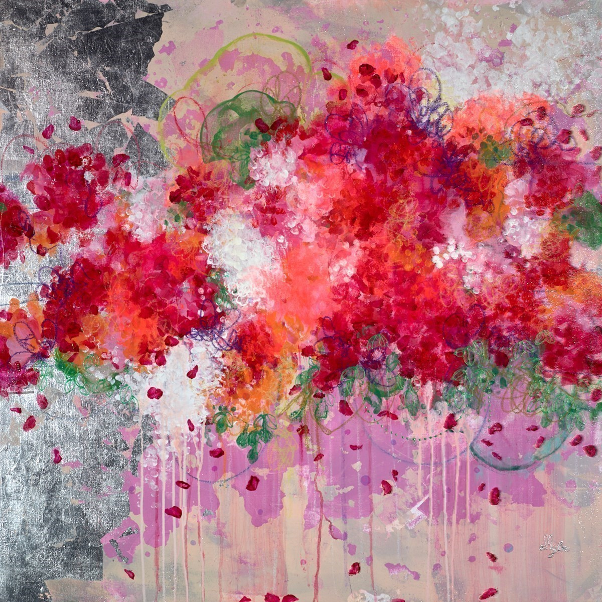 Avalanche by Amylee Paris -  sized 39x39 inches. Available from Whitewall Galleries